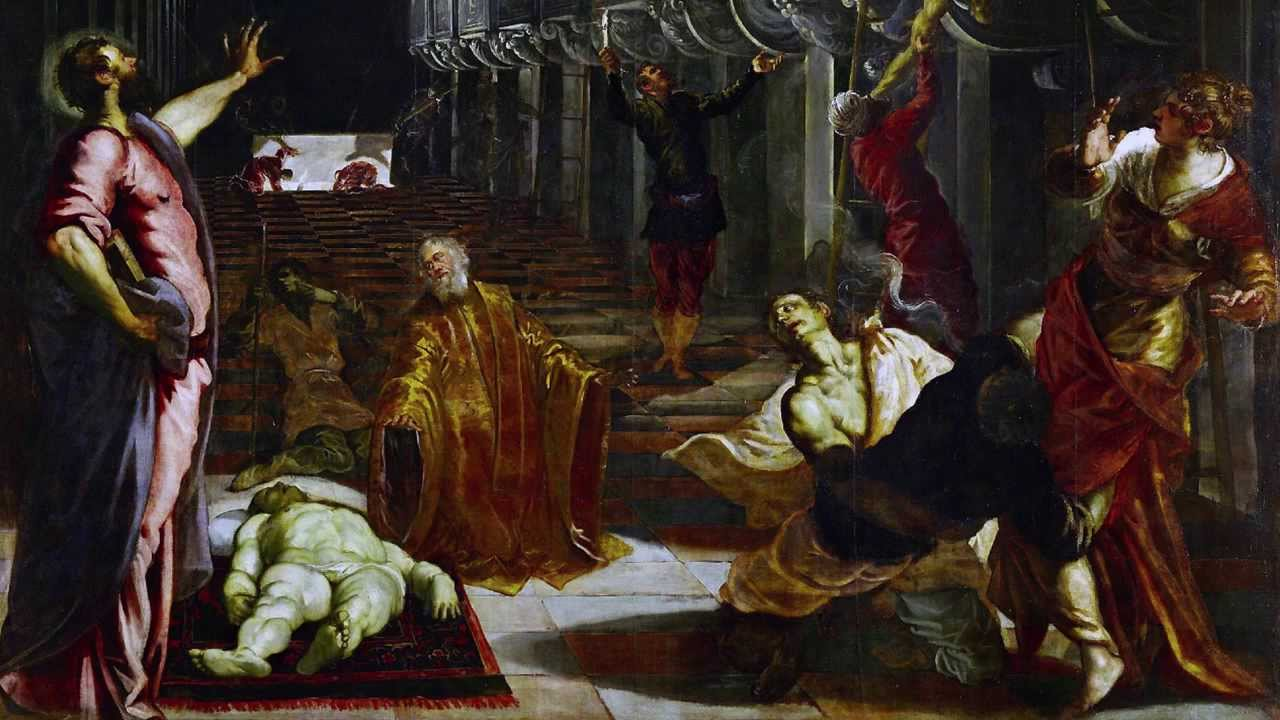 Tintoretto  The Finding Of The Body Of Saint Mark