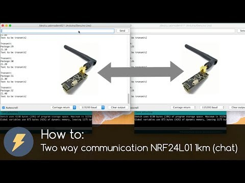 How To Two Way Communication NRF24L01 1km (chat) And Arduino