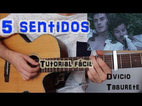 """Cómo Tocar """"5 Sentidos"""" Dvicio Ft. Taburete En Guitarra. TUTORIAL FÁCIL"""