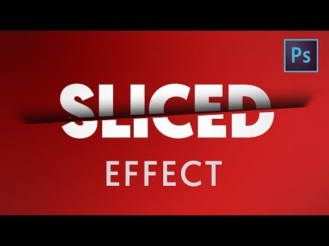 [ Photoshop Tutorial ] Sliced Text Effect