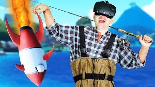 Flying Rocket Fish! - Crazy Fishing Gameplay - VR HTC Vive
