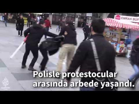Kadikoyde Polis Mudahalesi