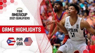 Puerto Rico v USA - Highlights - FIBA AmeriCup 2021 - Qualifiers