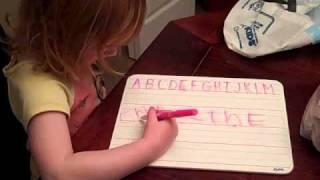Elizabeth writes Carolines name Thumbnail