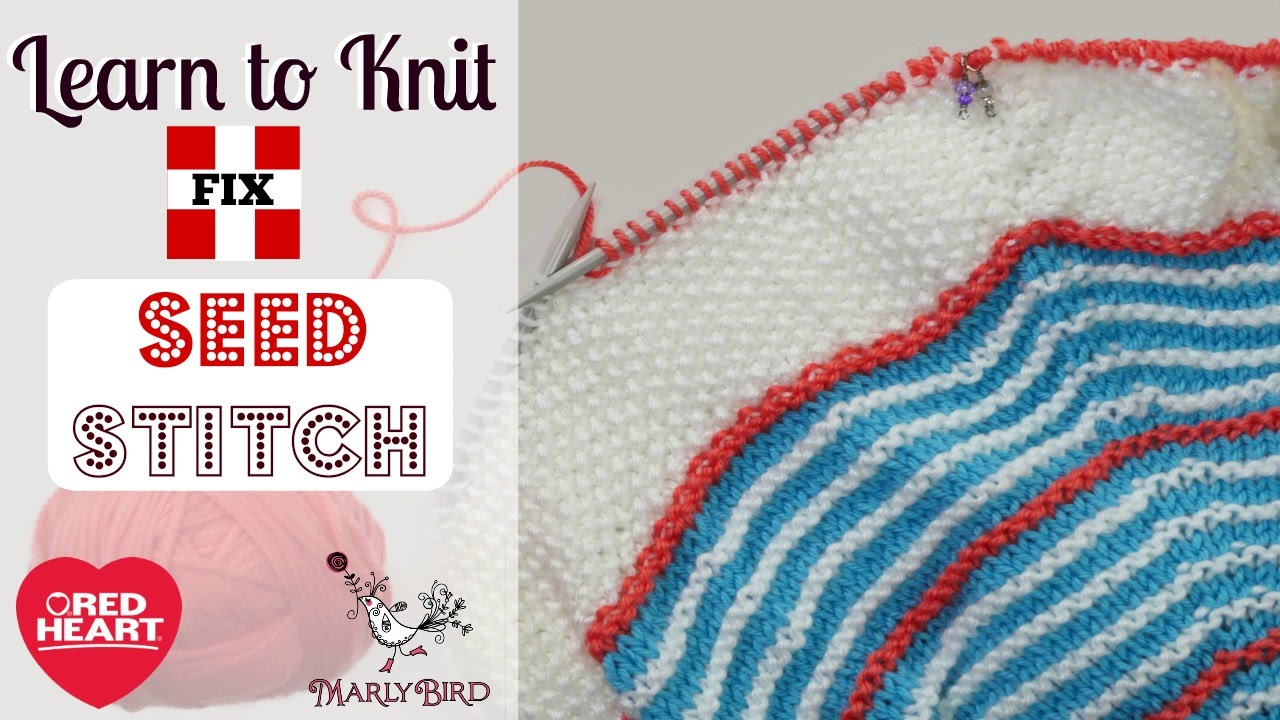 Learn to Fix Mistakes in Knitted Seed Stitch - YouTube