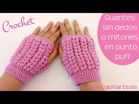 guantes-sin-dedos-o-mitones-de-ganchillo-punto-puff.-fingerless-gloves-or-crochet-mittens-puff-point