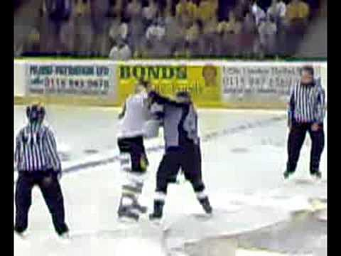 nottingham panthers kevin bergin fight 7/9/08