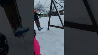 Funny epic fail Dad on swing.