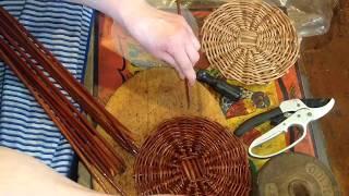 Плетение корзины из лозы.Ч.1.Делаем стойки корзины.