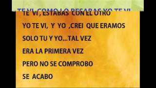Te  Vi , Yei  Y  Dj.mendez  Letra , Karaoke
