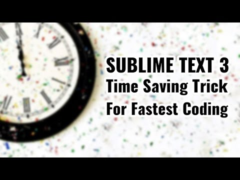 Fastest code writing trick with Sublime text 3 | zencoding | vishAcademy.com