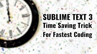 Fastest code writing trick with Sublime text 3   zencoding   vishAcademy.com