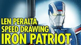 Len PERALTA: Speed Drawing: Iron Patriot