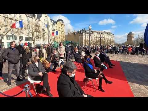 inauguration de la Statue du Géneral De Gaulle à Metz