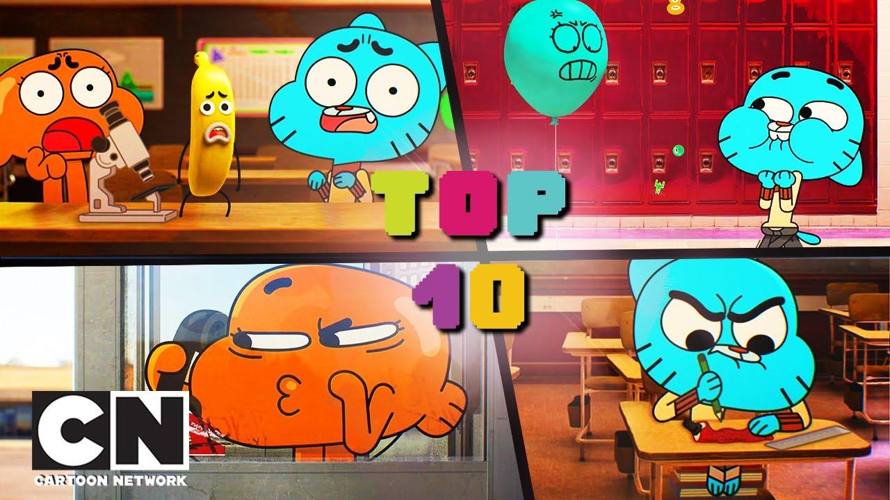 Niesamowity świat Gumballa   10 najlepszych żartów szkolnych   Cartoon Network
