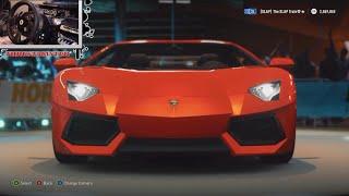 Forza Horizon 2 Test Driving - Lamborghini Aventador LP700-4 w/Thrustmaster Cam