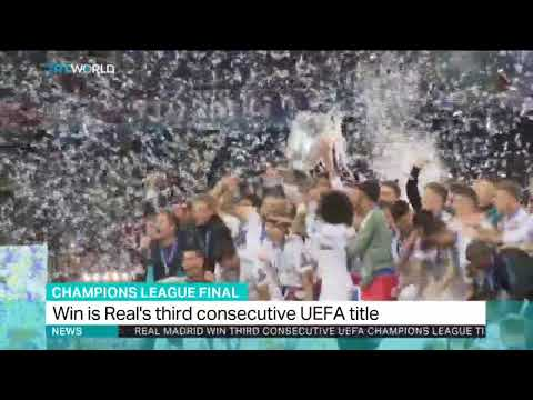 Real Madrid win the Champions League