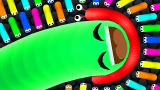 Slither.io 1 Hacked Skin Snake vs 126,220 Snakes Epic Slitherio A.I. Gameplay