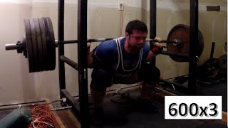 Peaks and Valleys: 600x3 Squat 370x2 Bench Press