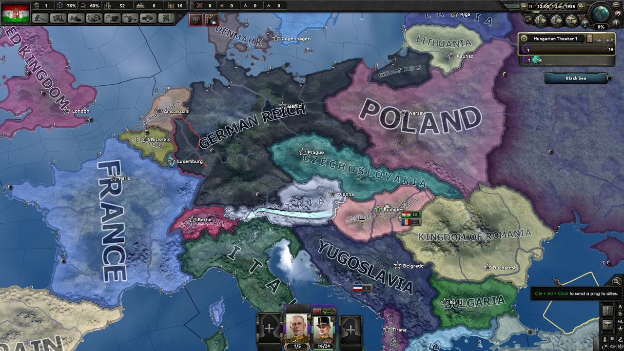 Hearts of Iron 4 - How to restore Austria-Hungary as Hungary!