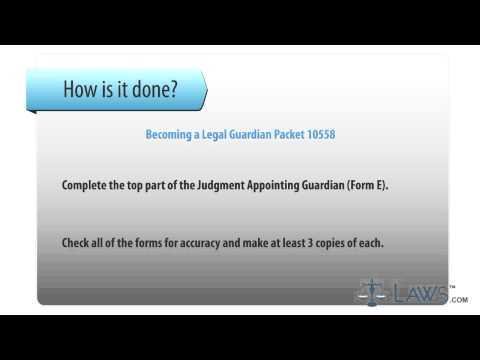 Becoming a Legal Guardian Packet 10558