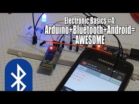 Electronic Basics #4: Arduino+Bluetooth+Android=Awesome
