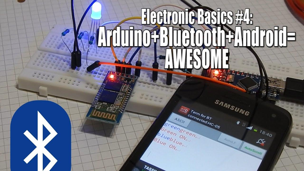 Electronic basics arduino bluetooth android awesome
