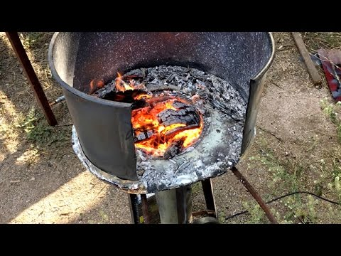 How To Build A Coal Forge Simple Homemade Blacksmith S