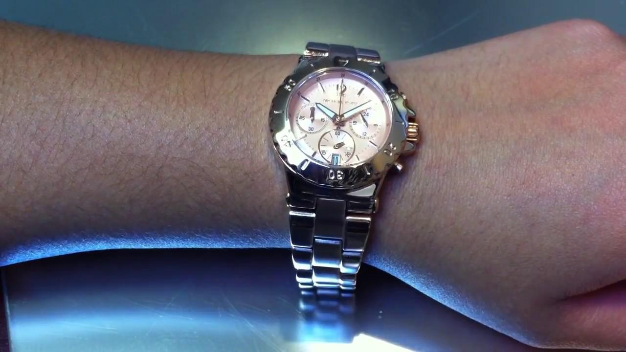 a5dfa2c9e54 Women s Michael Kors Dylan Chronograph Watch MK5499 - YouTube