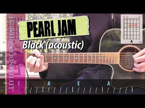 Pearl Jam - Black | simple acoustic guitar lesson