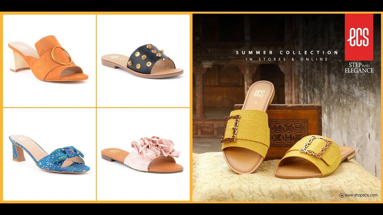 d88fa21e ECS Summer Shoes Collection'19=Summer Footwear Designs 2019-20 - YouTube