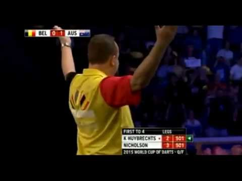 Kim Huybrechts vs. Paul Nicholson Incident - 2015 PDC World Cup