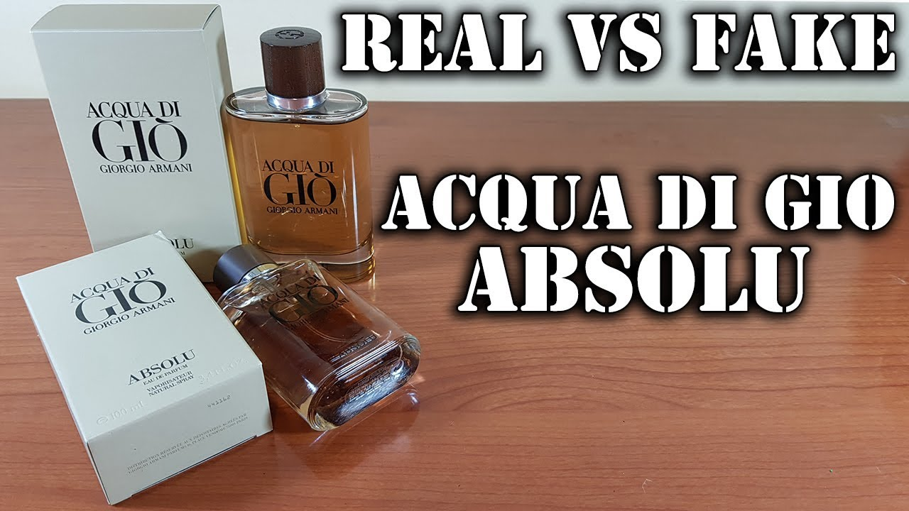 Fake Fragrance Acqua Di Gio Absolu By Armani Youtube