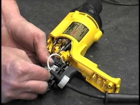 hqdefault how to replace the switch on a corded dewalt drill youtube dewalt drill switch wiring diagrams at honlapkeszites.co