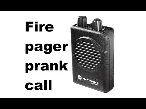 Firefighter Minitor Pager Prank Call 3 - Fake Fire Alarm call