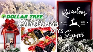 DOLLAR TREE CHRISTMAS DIYS | REINDEER THEME & LARGE RED LANTERN | CHIC ON THE CHEAP