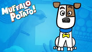 how to draw max from the secret life of pets using letters and numbers with muffalo potato