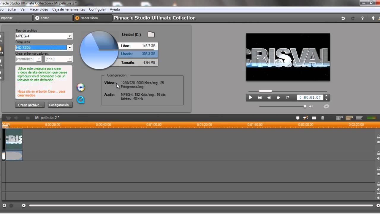 Tutorial   Renderizar videos en Pinnacle Studio - YouTube