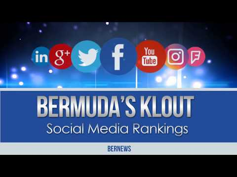 Bermuda Social Media Klout Rankings, January 2018