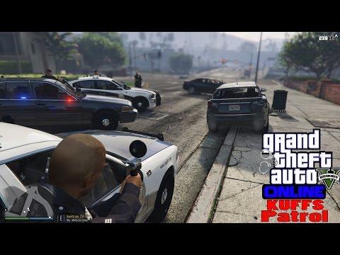 GTA V LSPDFR Online Multiplayer KUFFS Patrol #9   Ambushed At The Police Station