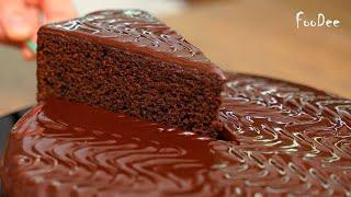 Шоколадный ТОРТ на раз два три НИЧЕГО взбивать не надо