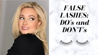 False Eyelashes Do's and Dont's for Beginners