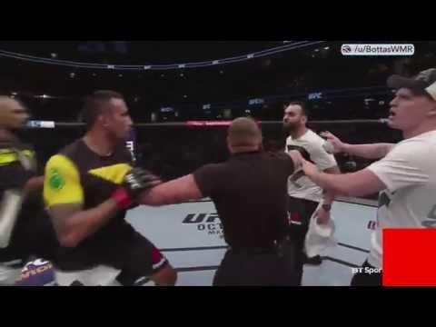 "Fabricio Werdum kicking Edmond Tarverdyan in an ""almost"" brawl after his fight with Travis Browne"