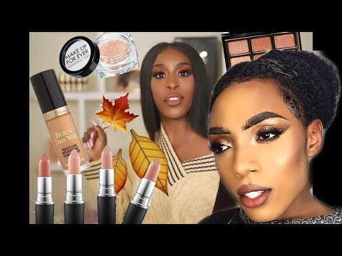 Jackie Aina you sure did that || FALL sweater weather glam makeup thumbnail