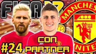 FIFA 17 Manchester United Modo Carrera #24   SE VINO MESSI EL PIE DE ORO LLEGO   CON PARTNER