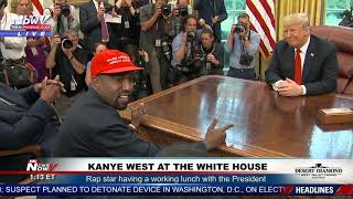KANYE WEST Goes On A RANT At The White House With President Trump