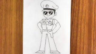 How to draw liтtle singham desh ka sipahi|Little singham drawing