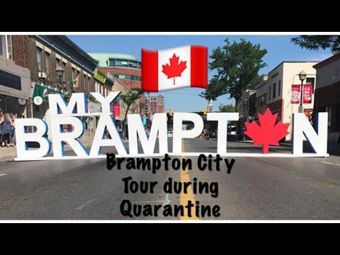 BRAMPTON City Tour| CANADA TOUR BRAMPTON|Brampton During Quarantine| Driving In Downtown Brampton