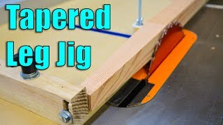 How To Make a Table Saw Jig for Tapered Legs
