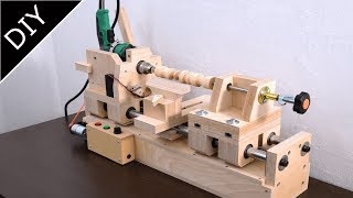 Making of Wood lathe - 6in1 drill press